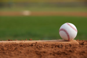 Baseball and Pitching Rubber